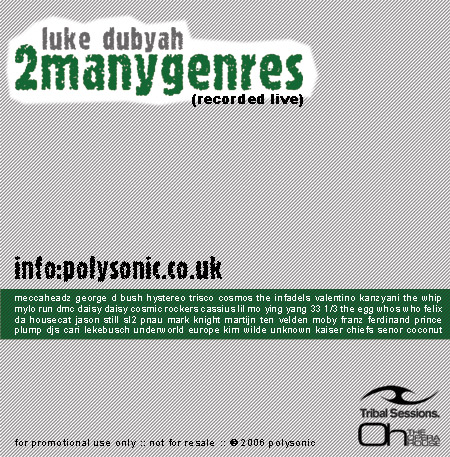 Luke Dubyah - 2manygenres3 artwork