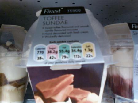 Tesco Finest Toffee Sundae