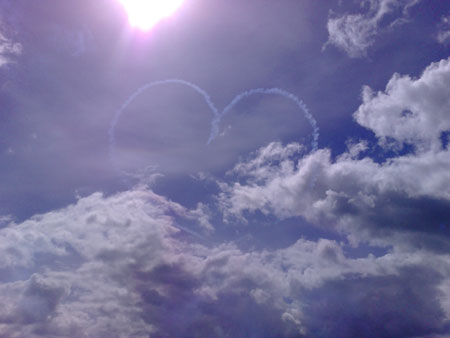 red arrows heart in bournemouth