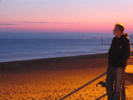 me n a groovy sunset
