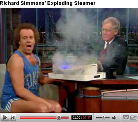 richard simmons steamer on letterman