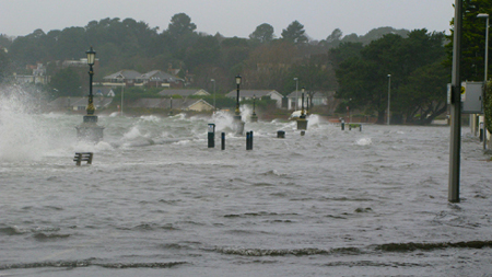 Sandbanks flooded